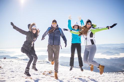 Mettre l'ambiance au ski avec une enceinte portable