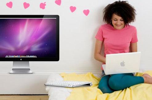 Personne accro aux ordinateurs Mac d'Apple