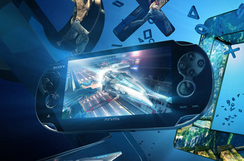 Illustration : console de jeux vidéo portable PS Vita de Sony
