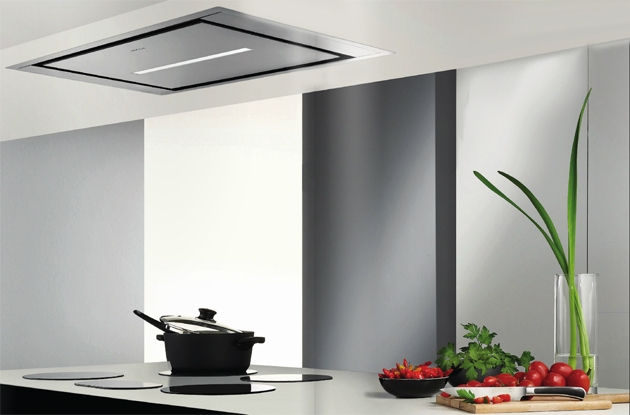 Hotte invisible la s lection 100 discr tion darty vous for Hotte de cuisine plafond