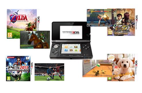 Console de jeu vidéo 3DS de Nintendo