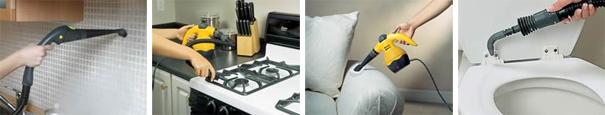 le nettoyeur vapeur et ses accessoires - Nettoyeur Vapeur Salle De Bain