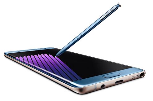 Galaxy Note 7 de Samsung avec le S Pen