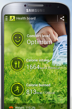 Samsung Galaxy S4 : application S Health