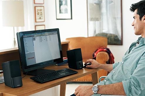 choisir enceintes pc boostez le son de votre ordinateur darty vous. Black Bedroom Furniture Sets. Home Design Ideas