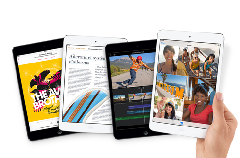 iPad Mini : déclinaisons d'applications