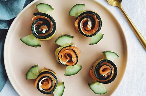 Les bonbons de saumons fumé et de courgettes de Juliette