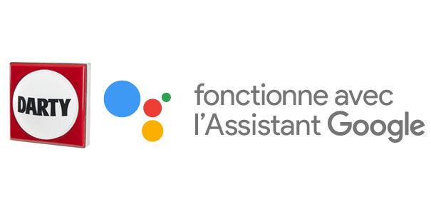 L'assistance le Bouton Darty est compatible avec Google Assistant