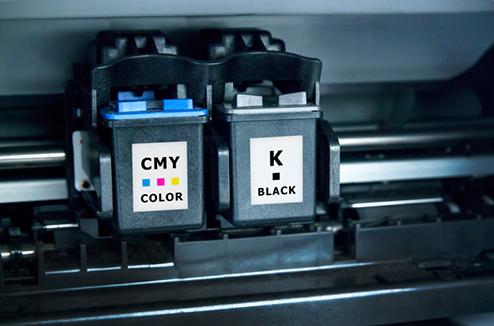 Cartouche d'encre dans une imprimante