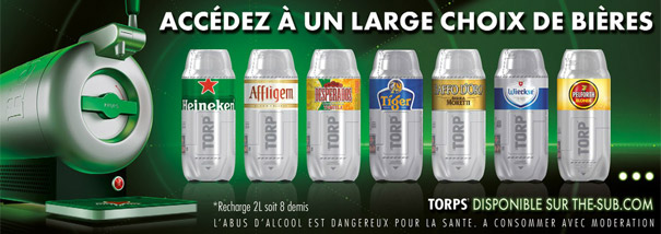 Recharge torp biere