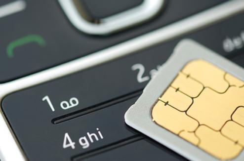 Téléphone mobile : clavier et carte SIM