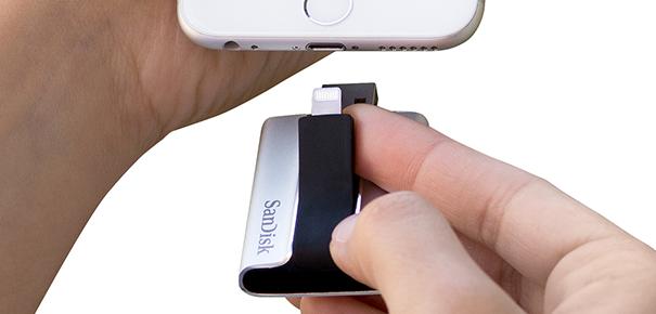 Clé USB Sandisk pour iPhone : prise Lightning