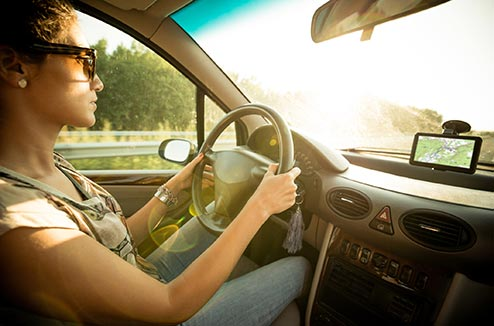 Conduire avec un GPS