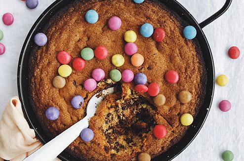 Le cookie géant au smarties de Juliette