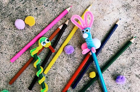 Les crayons chenille de Juliette