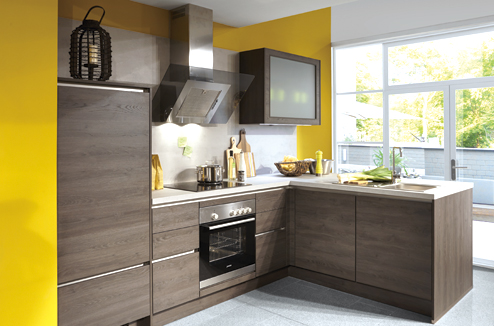 cuisine quelle couleur associer avec le bois darty. Black Bedroom Furniture Sets. Home Design Ideas
