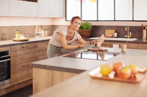 1 cuisine 3 styles la version zen darty vous. Black Bedroom Furniture Sets. Home Design Ideas
