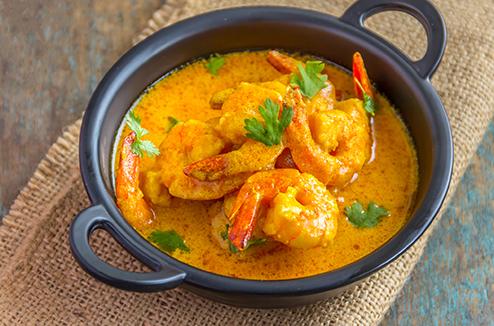 Curry de crevettes avec le Companion