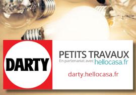 Darty petits travaux avec Hellocasa : logo bloc service