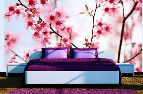 Papier peint fleurs de cerisier