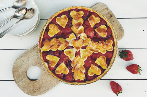DIY : personnaliser la présentation d'une tarte aux fraises - Pas à pas signé Juliette Lalbaltry