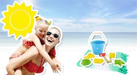 Une maman et sa fille à la plage