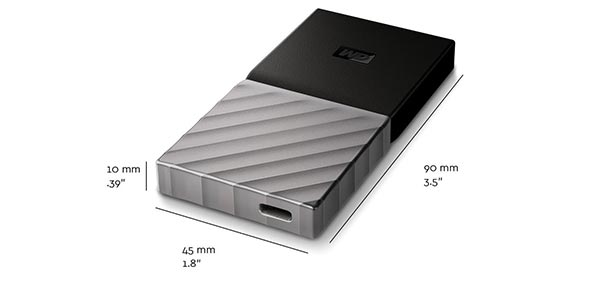 Design du disque SSD WD My PassPort