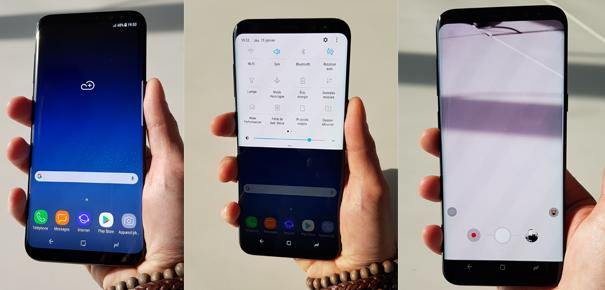 Design du Samsung Galaxy S8+
