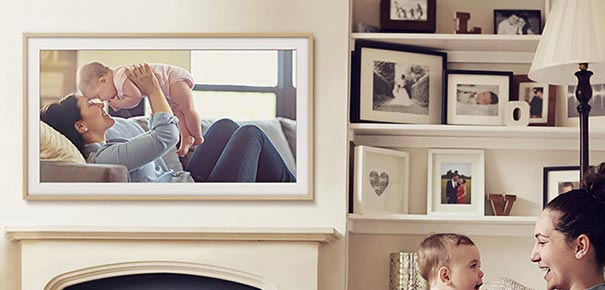 Samsung The Frame affichant une photo