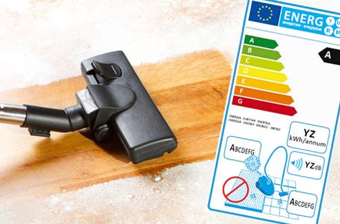 L'étiquette énergie : désormais sur les aspirateurs