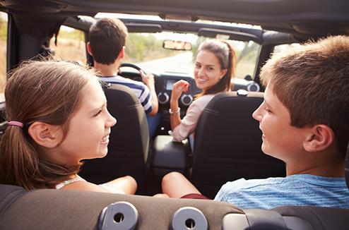 Écouter de la musique en voiture