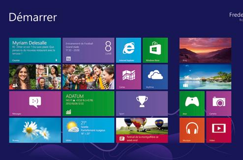 Écran d'accueil Windows 8