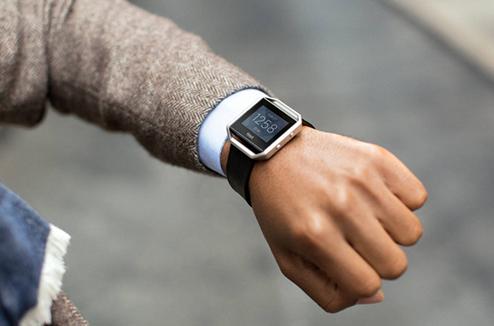 Fitbit Blaze avec l'affichage de l'heure
