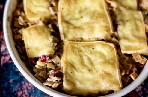 Gratin de crozets aux restes de raclette