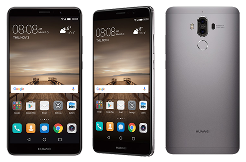 Huawei Mate 9 : différentes vues