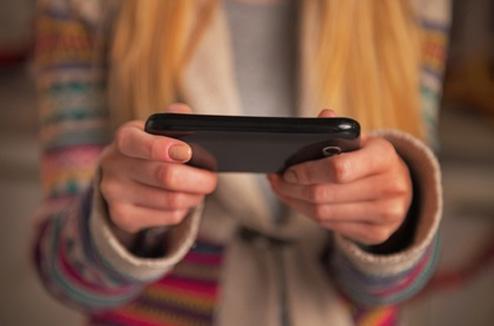 Illustration : téléphone mobile à noël