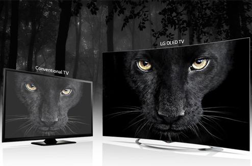 TV OLED 4K LG comparée à une image standard