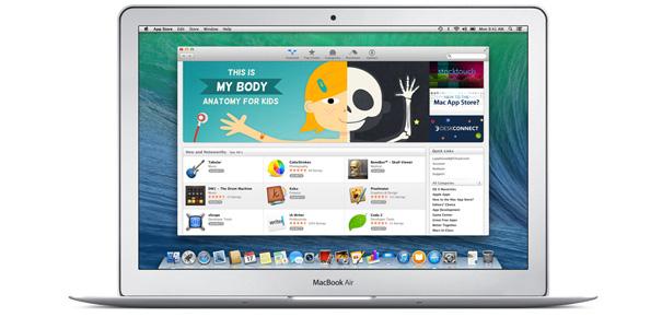 Appstore sur le Macbook Air