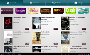 Application Club Reader pour lire ses ebooks Darty