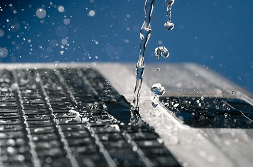J'ai renversé de l'eau sur mon PC portable