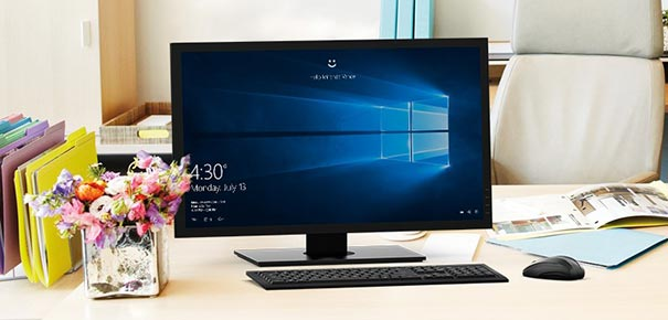 Ordinateur de bureau avec Windows 10