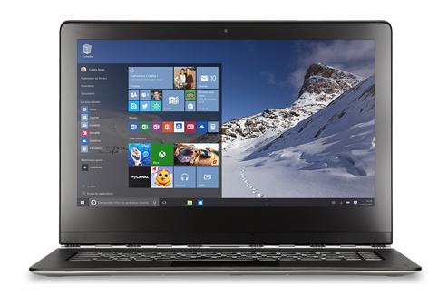 PC sous Windows 10 avec le nouvel écran d'accueil