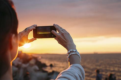 Prendre un paysage en photo avec un smartphone