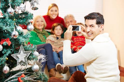 Photo de famille à Noël