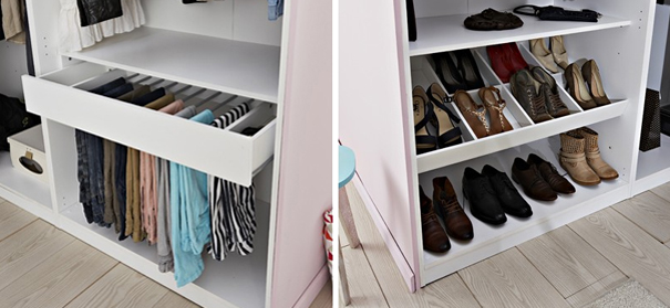 comment am nager un dressing darty vous. Black Bedroom Furniture Sets. Home Design Ideas