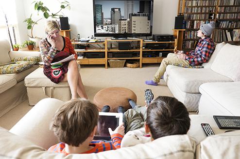 Regarder la TV en vacances