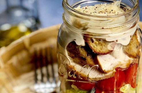 Bento Healthy : Salade Jar césar