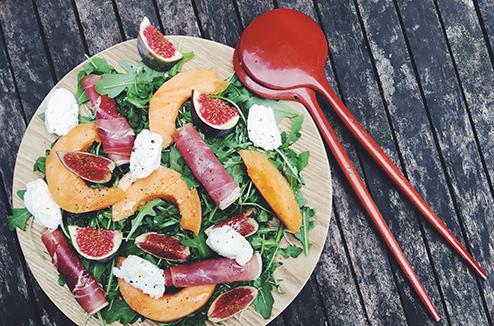 salade-roquette-melon