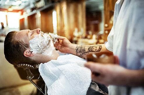 Un salon de barbier à domicile