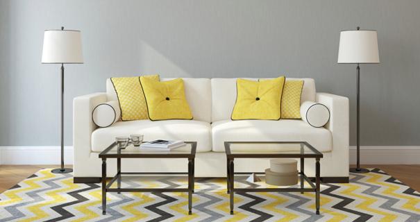 Donner un coup de neuf son salon sans tout changer - Deco salon gris et jaune ...